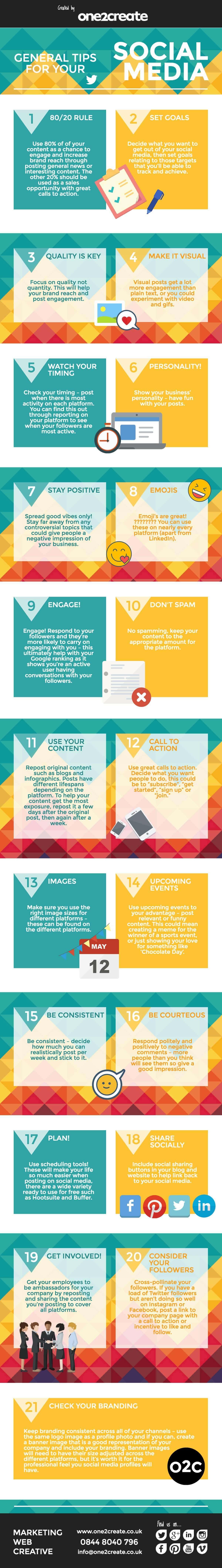 21 general tips social media - 21 Top Tips for Social Media Success