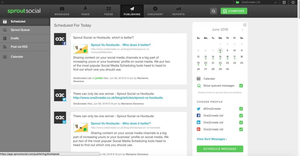 Hootsuite Vs Sprout Social Who Does It Better Onecreate - Hootsuite content calendar template