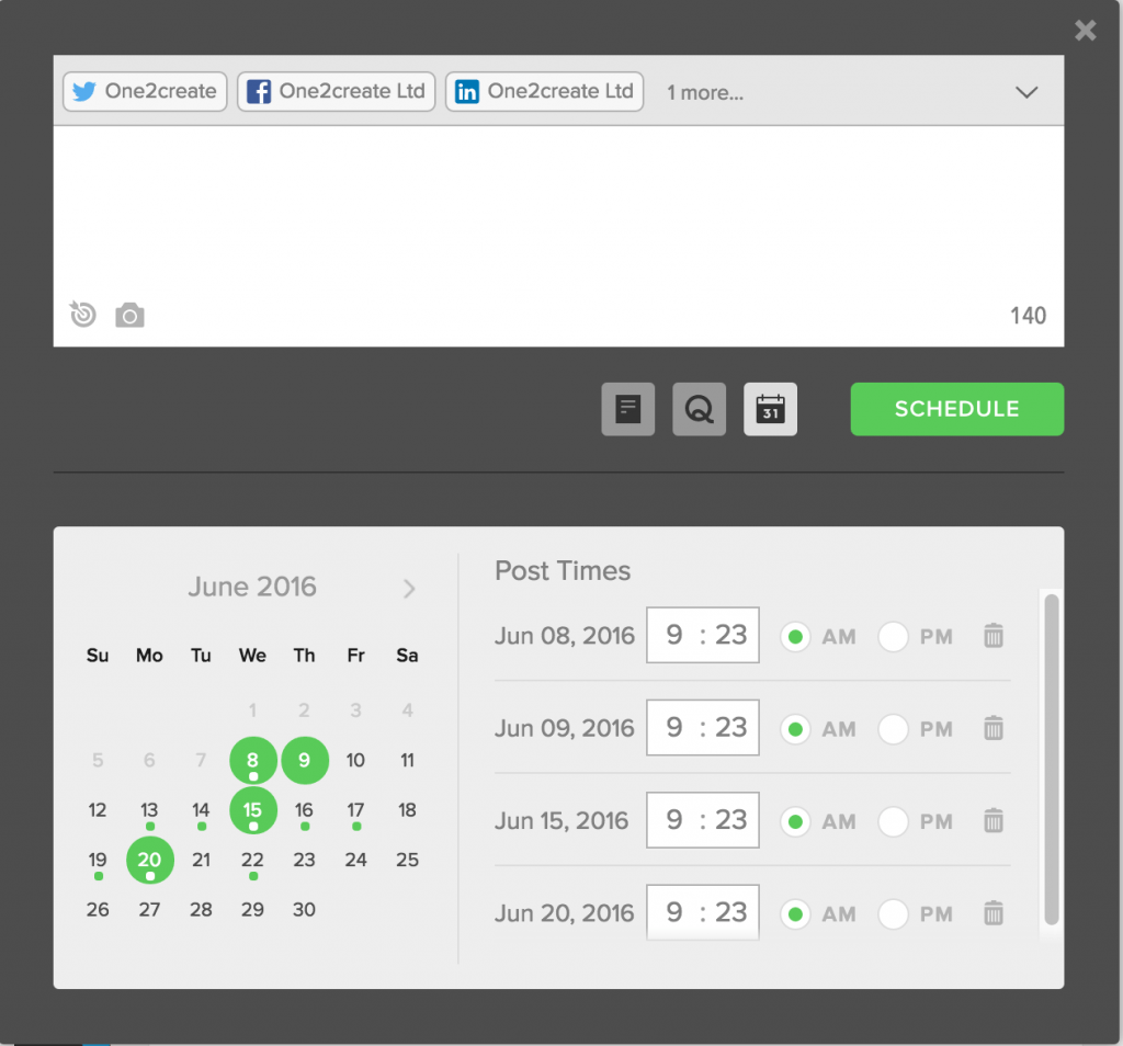 sprout vs hootsuite sprout scheduling page