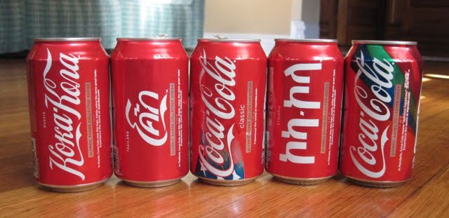 Coco Cola cans