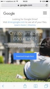 Google Documents home screen page download