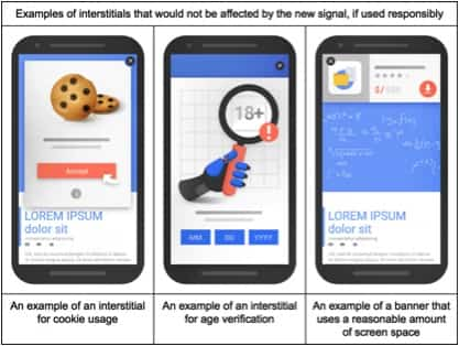 "Google Intrusive interstitial example 2 - Google is cracking down on ""Intrusive Interstitials"" from January 2017"