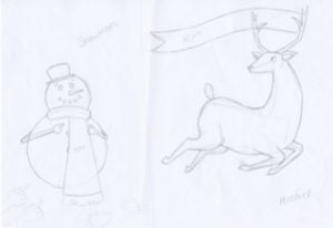 Reindeer Snowman Dec e1480515421297 300x206 - One2create Advent Calendar