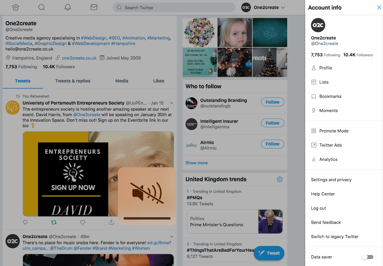 Twitter releases sneak peek of new layout| Blog | One2create
