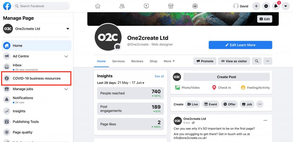 Screenshot 2020 06 18 at 12.48.27 1024x497 - Social Media Support for Businesses During the Coronavirus Lockdown