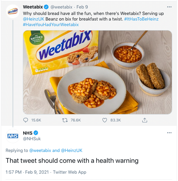 Screenshot 2021 02 10 at 10.00.39 - Weetabix, that Tweet, and why it worked so well