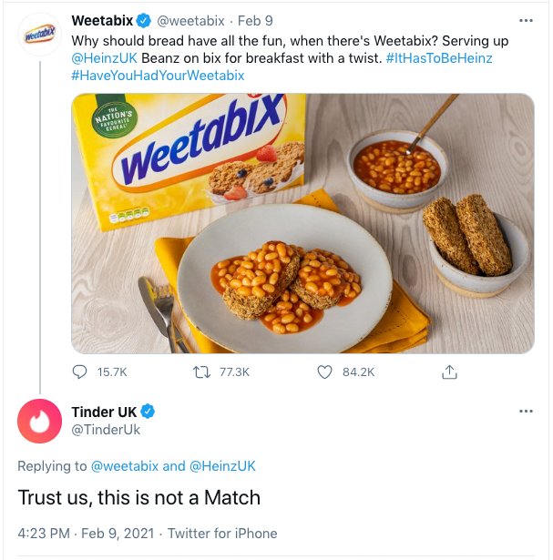 Screenshot 2021 02 10 at 10.15.00 - Weetabix, that Tweet, and why it worked so well
