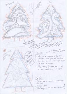 Tree concept - One2create Advent Calendar