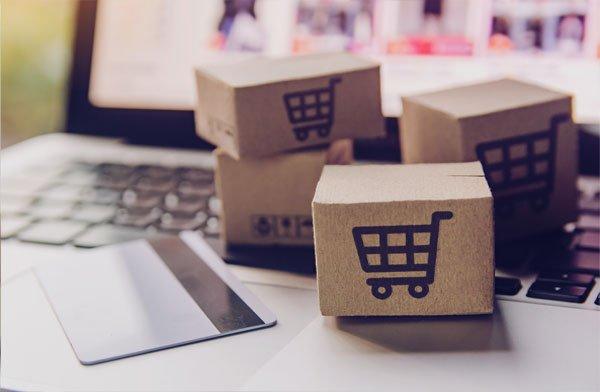 Blocks showing shopping