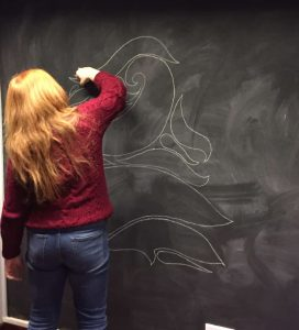 beccy drawing blackboard 272x300 - One2create Advent Calendar