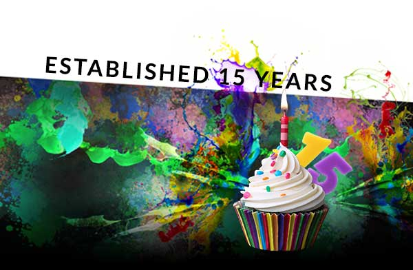 birthday - Celebrating 15 years in business!