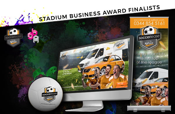 soccerlease stadium business show 2 - O2C helps client get shortlisted for a national award