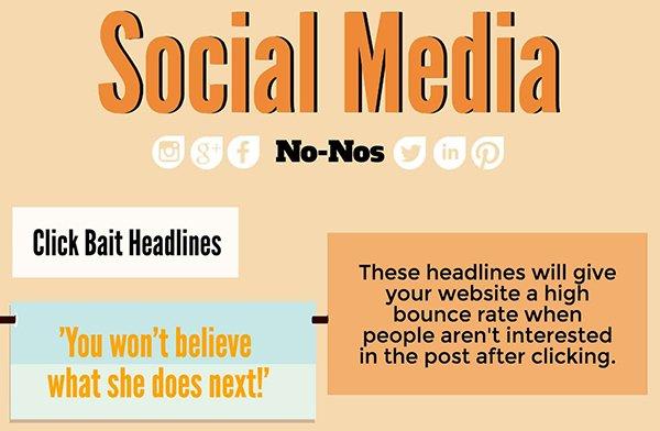 Social media no no's infographic