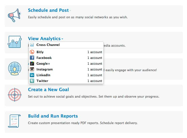 social report analytics filter option - Hootsuite vs Sprout vs Social Report vs Social Pilot