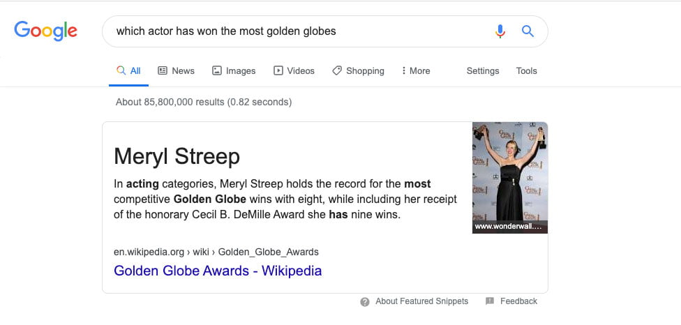 text snippet featured snippet 976x466 1 - What Are the Different Types of Featured Snippets
